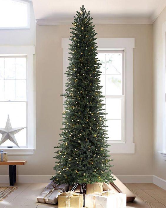 Árboles de navidad slim modernos
