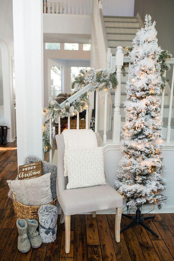 Árboles navideños tradicionales estilo slim