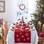 Caminos de mesa navideños con velas