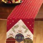 Diseños de caminos de mesa para navidad elegantes