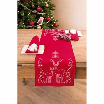 Ideas de caminos de mesa para navidad sencillos
