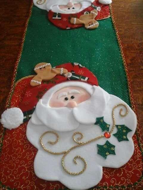 Caminos de mesa navideños en fieltro