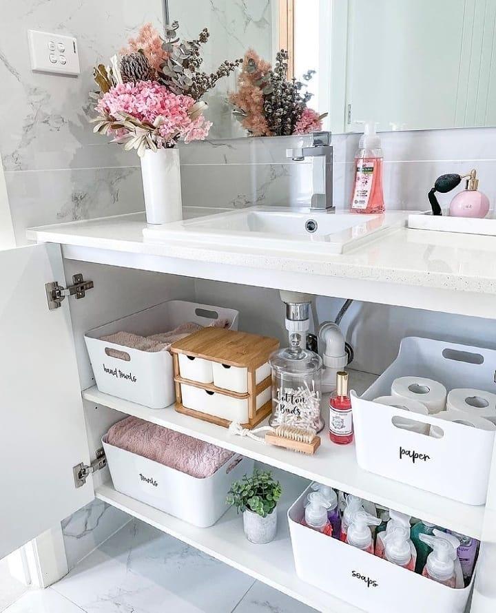 Checa estas ideas para organizar el baño
