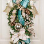 Colgantes navideños para la puerta en forma de lagrima
