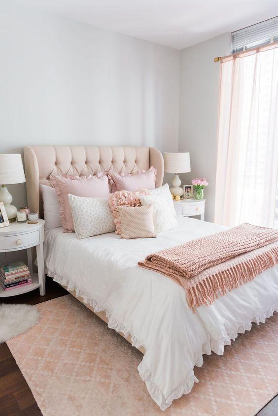 Colores para decoración de dormitorios para mujeres