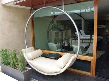 Diseños de columpios modernos para decoración de exteriores