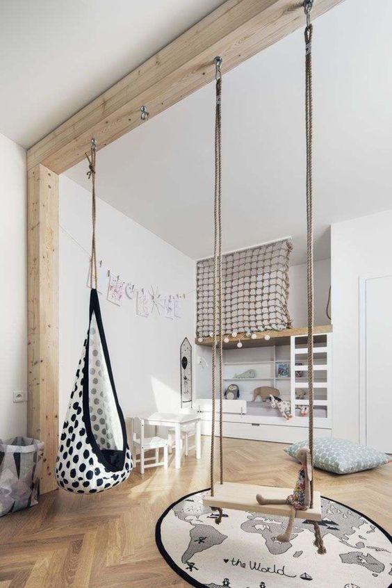 Ideas de columpios modernos para decoración de interiores