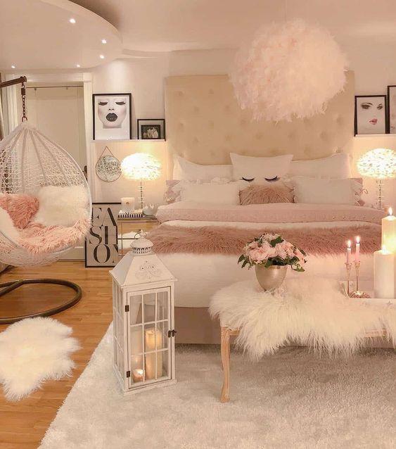 Habitaciones decoradas con columpios modernos