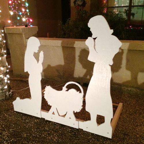 Como pintar nacimientos de madera para navidad
