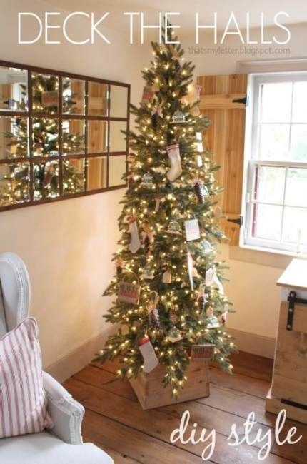 Decoración de árboles slim para navidad