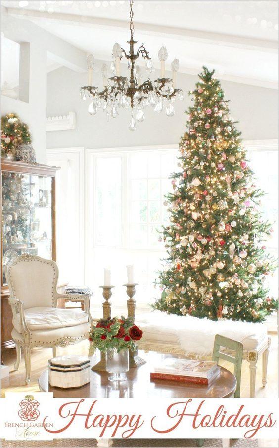 Decoración de Navidad estilo french country