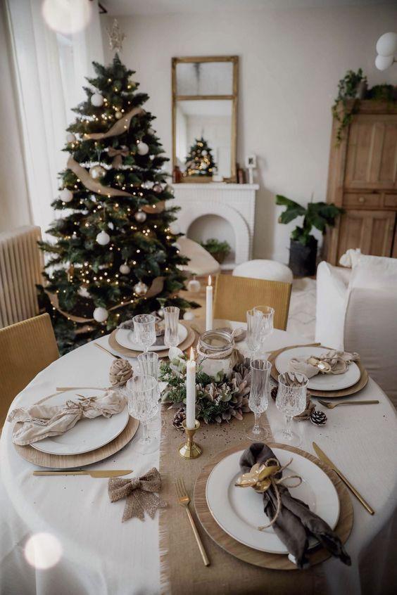 Como decorar la mesa de la cena navideña en una casa pequeña