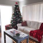 Decoración navideña en salas de estar pequeñas