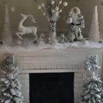 Chimeneas navideñas en plateado