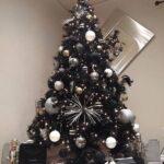 Decoración de navidad en plateado