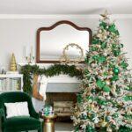 Chimeneas navideñas en color verde