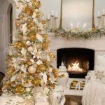 Chimeneas navideñas color dorado