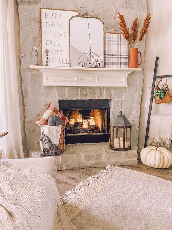 Decoración de salas con velas para el otoño