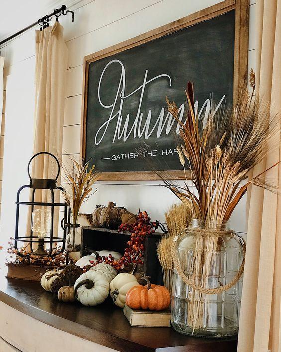 Vegetación seca para la decoración de tu sala en otoño