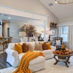 Decoración otoñal para la sala de estar