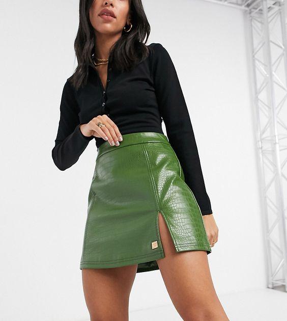 Faldas con abertura en pierna