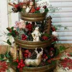 Ideas de centro de mesa navideño en bandeja o platón