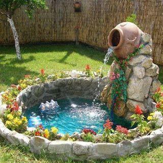 Fuentes para patios