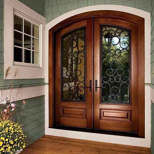 Diseños de puertas de madera y vidrio