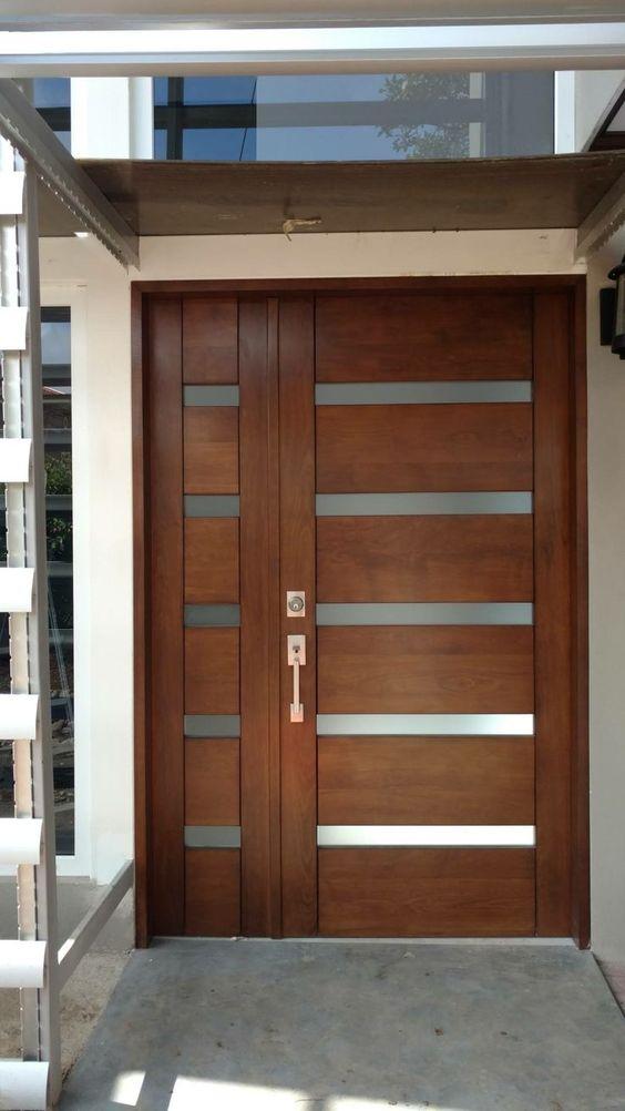 Ideas de puertas principales de madera