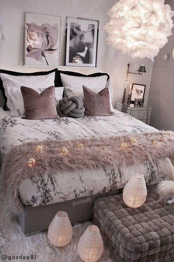 Iluminación para dormitorio de mujer