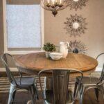 Mesas de comedor redondas estilo rústico