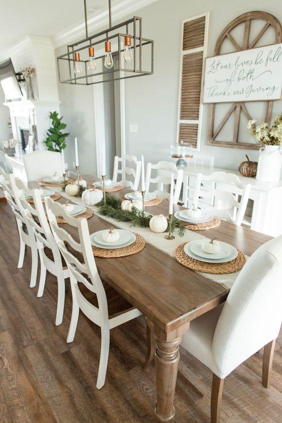 Comedor rústico moderno de 6 sillas