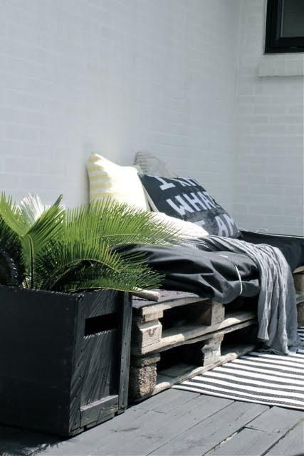 Muebles hechos con palets para tu terraza