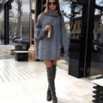 Vestido tipo suéter