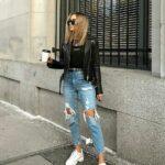 Los mejores outfits con jeans rotos de moda