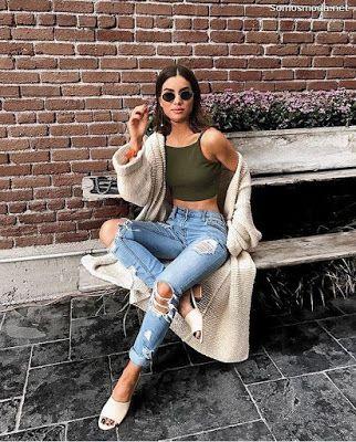 Opciones de looks básicos con jeans rotos