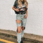 Looks con jeans rotos y botines