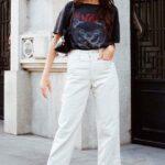 Looks casuales de otoño - invierno con jeans blancos