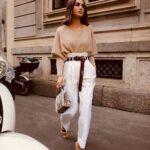 Formas de combinar pantalones blancos en otoño - invierno
