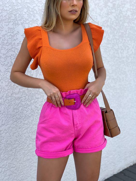 Looks coloridos con shorts