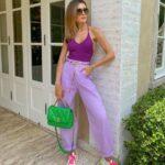 Ideas de looks con palazzos coloridos
