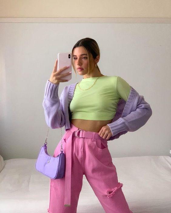 Los mejores outfits con colores pastel