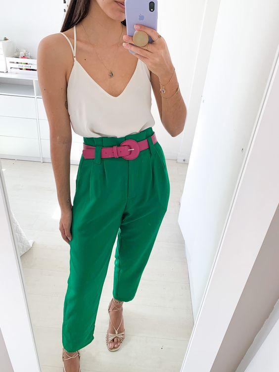 Propuestas de outfits colorblocking para verano