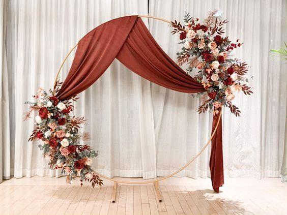 Decoraciones para boda con flores naturales