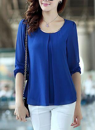 Diseños de blusas de gasa elegantes