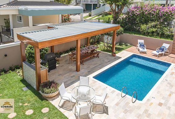 Diseños de casas con jardín y alberca