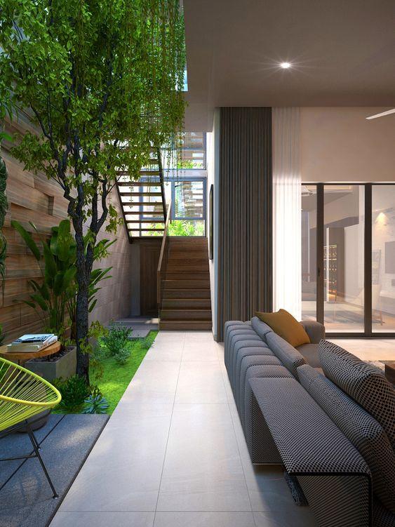 Casa con jardín interior