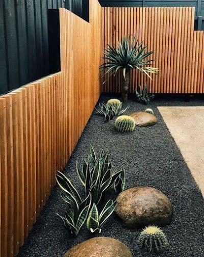 Diseños de jardines modernos con piedras