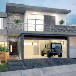 Ideas de casas de dos plantas con garaje