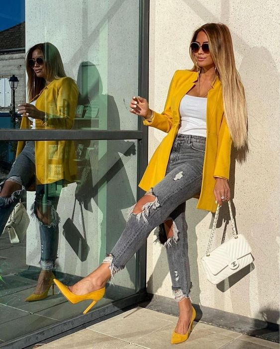 Looks con jeans y tacones